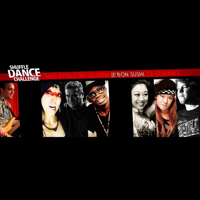 Shuffle dance challenge